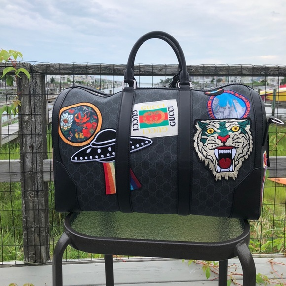 7320f4dba9a Gucci Night Courier Supreme Duffle Bag Carry On